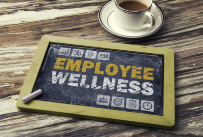 Employee Wellness drawn on a chalkboard